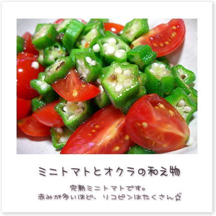 完熟ミニトマトです。赤みが多いほど、リコピンはたくさん♪
