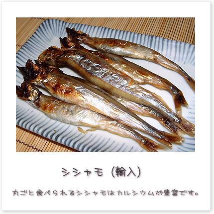 丸ごと食べられるシシャモはカルシウムが豊富です。