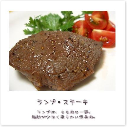 ランプは、もも肉の一部。脂肪が少なく柔らかい赤身肉。